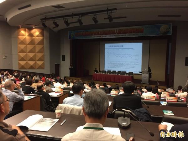 中華經濟研究院今天舉行『2016年臺灣經濟預測及採購經理人營運展望研討會』。(記者王孟倫攝)