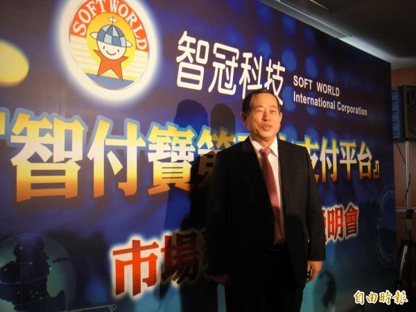 智冠旗下智付寶取得專營電子支付機構業務許可,圖為董事長王俊博。(記者張慧雯攝)