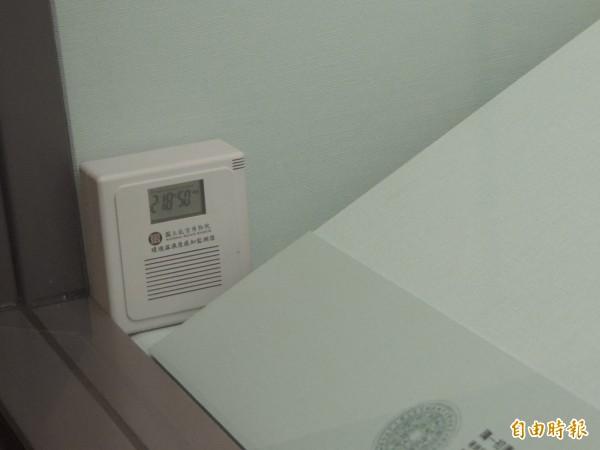 故宮文物濕度超標,青銅器濕度飆到50%。(記者楊媛婷攝)