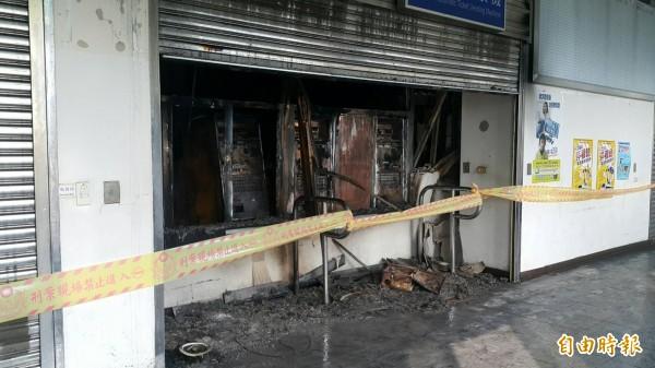 埔心車站售票機房發生火警。(記者周敏鴻攝)