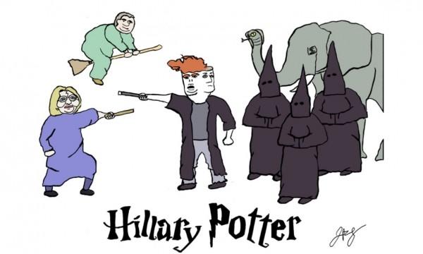 ClintonKaine.com上的疑似諷刺總統大選的怪異漫畫。(圖擷取自ClintonKaine.com)
