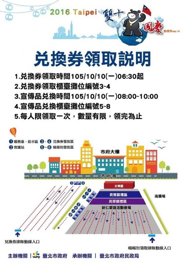 二代嗡嗡包兌換路線與流程。(台北市民政局提供)