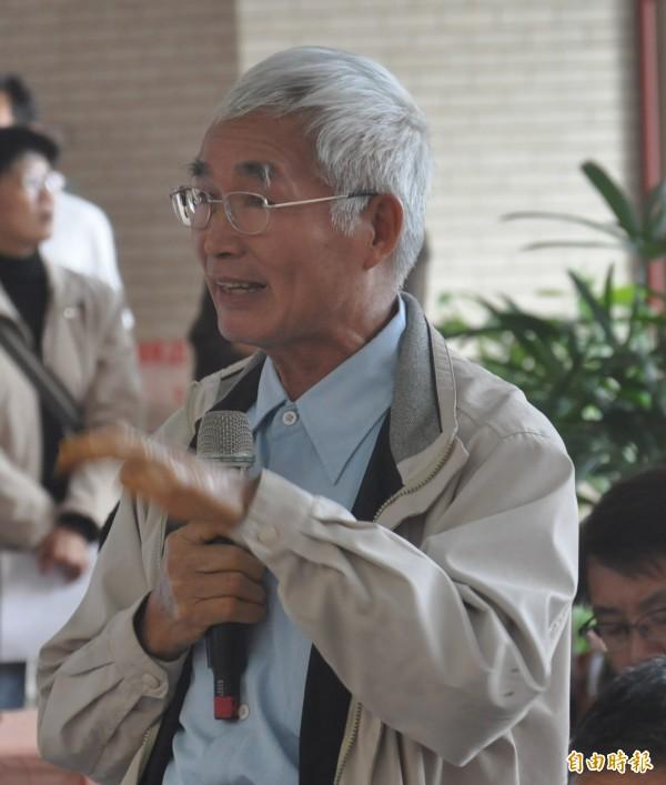 薑黃伯陳添麒獲選為2017全國十大神農。(記者黃明堂攝)
