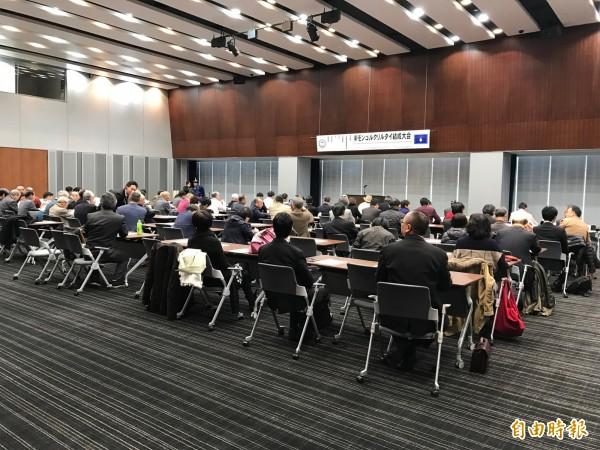 全球南蒙古人今天在日本國會參議員會館成立世界「南蒙古大呼拉爾台」(世界南蒙古會議)大會。(駐日特派員張茂森攝)
