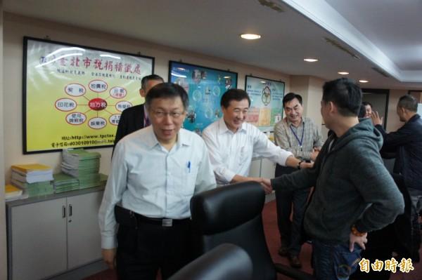 對於資安系統老舊。台北市長柯文哲強調市府已盡快處理。(記者黃建豪攝)