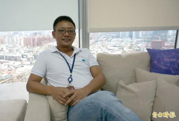 隆中網絡總經理熊家麒去年繳出亮麗成交單,也看好今年發展。(記者張慧雯攝)