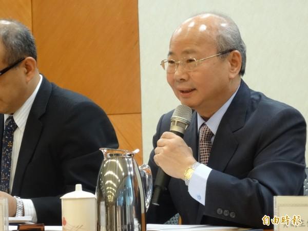 金管會主委李瑞倉今天表示,兩岸金融監理與交流正常,對口單位溝通順暢。(記者王孟倫攝)