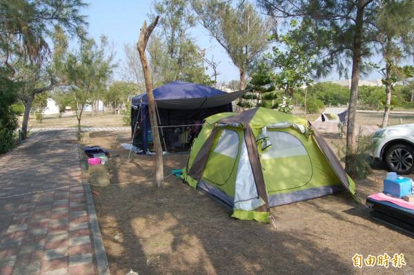 雙春濱海露營區營地平整。(記者楊金城攝)