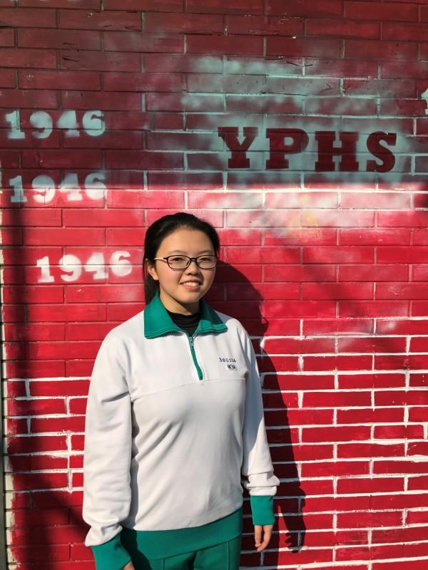 曾在「百萬小學堂」節目中表現亮眼的「小西瓜」廖書嫻,是延平中學高三生,今年學測考取74級分。(北市延平中學提供)