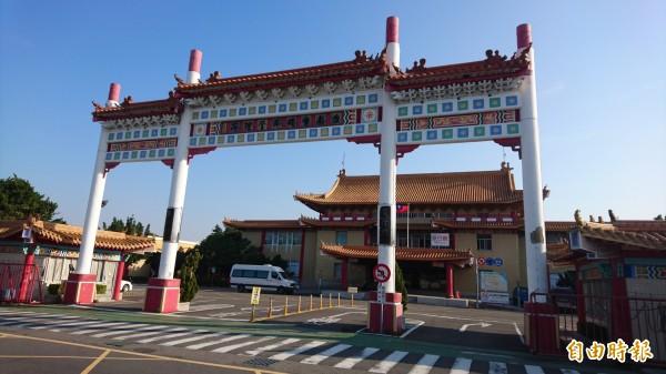 汪笨湖遺體已在台南市立殯儀館入殮。(記者劉婉君攝)