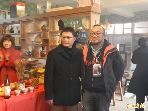 導演葉天倫(右)、陳長綸(左)。(記者林欣漢攝)