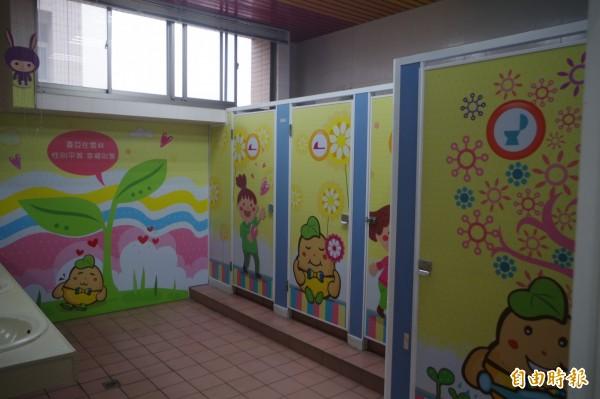 雲縣府性別友善廁所讓使用者感覺活潑沒壓力。(記者林國賢攝)