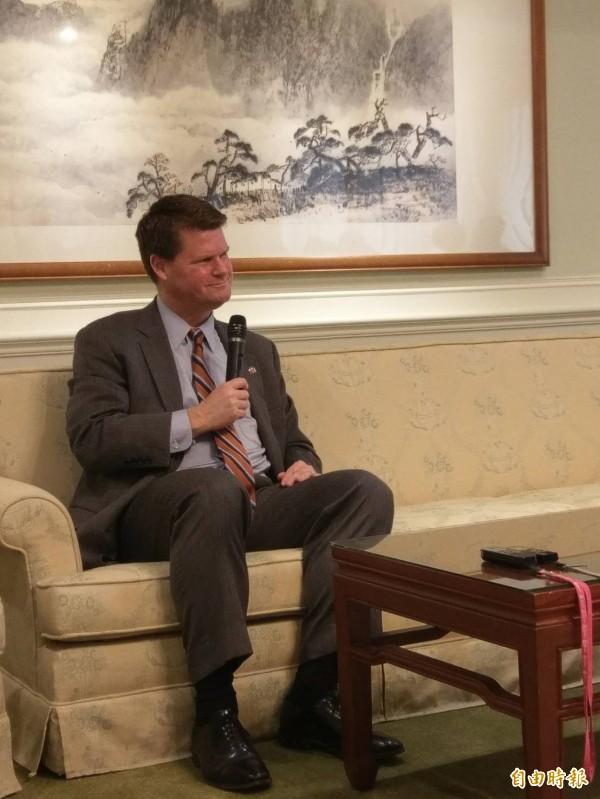 美國國務院前東亞副助卿薛瑞福(Randall Schriver)近日率團訪台。(記者呂伊萱攝)