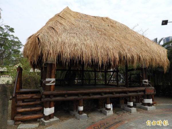 札哈木原住民族公園內的鄒族涼亭hufu整修完成啟用。(記者洪瑞琴攝)