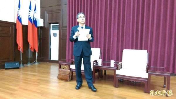 司改會議第二組召集人林子儀指出,未來檢察總長可聲請釋憲。(記者項程鎮攝)
