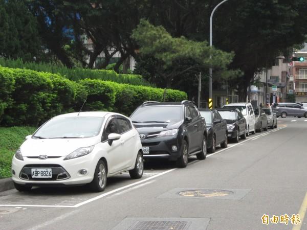 配合清明節連續假期,4月3、4日兩天,桃園市路邊停車採週六費率。(記者謝武雄攝)
