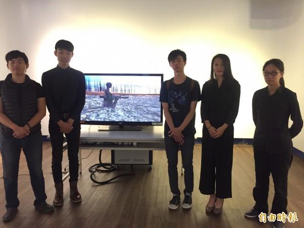 屏大視覺藝術畢業展,蔡任全等人完成3D動畫「吉米」。(記者羅欣貞攝)