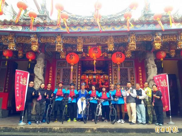 「Bike宜蘭媽祖古廟,騎求平安」今年邁入第六年。(記者簡惠茹攝)