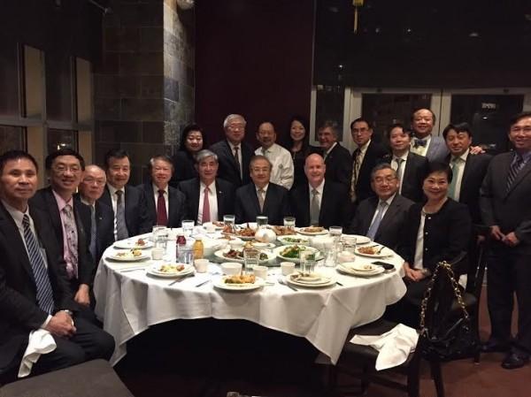 訪問團希望遊說美國國會、行政部門和企業界支持台灣,強化美台經貿關係。(記者曹郁芬攝)