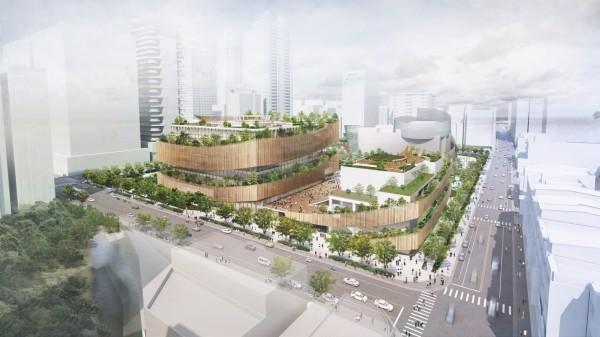 郭自強建築師事務所與日本建築團隊「梓設計」合作,獲得設計市圖總館的簽約權。(桃園市立圖書館提供)