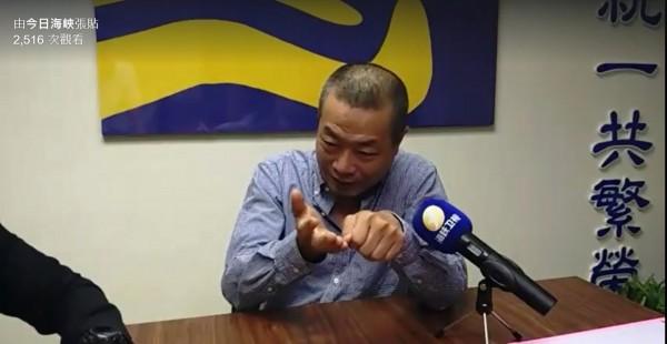 涉嫌鋸斷八田與一銅像頭部的前北市議員李承龍今日上午接受中媒專訪,詳述犯案過程。(記者王涵平翻攝臉書)