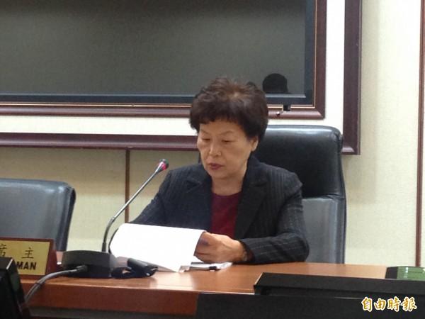 經濟部統計處長林麗貞(記者黃佩君攝)
