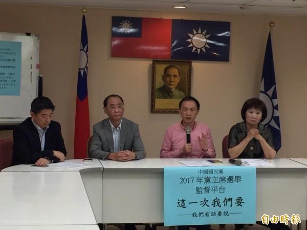 國民黨台北市議員今召開「這一次我們要」記者會,提出5大訴求,點名6位候選人具體回應。(記者沈佩瑤攝)
