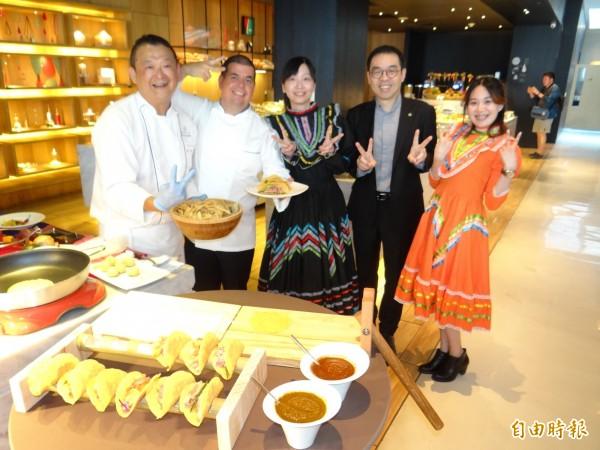台南老爺行旅舉行墨西哥美食週活動,讓饕客不出國就能品嚐道地墨西哥美食。(記者王俊忠攝)