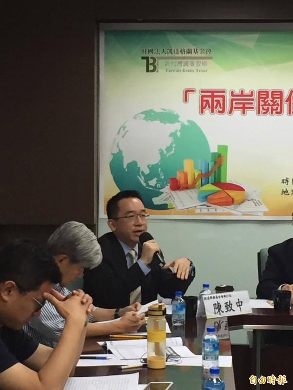 前總統陳水扁兒子陳致中出席記者會(記者彭琬馨攝)
