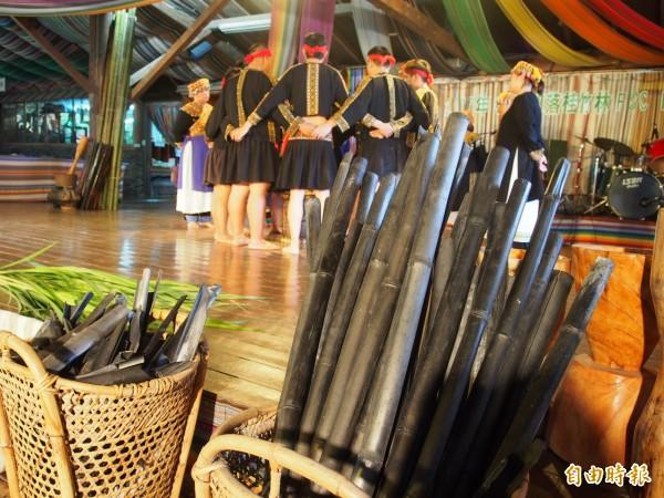 布農文教基金會竹炭工坊生產的竹炭。(記者王秀亭攝)