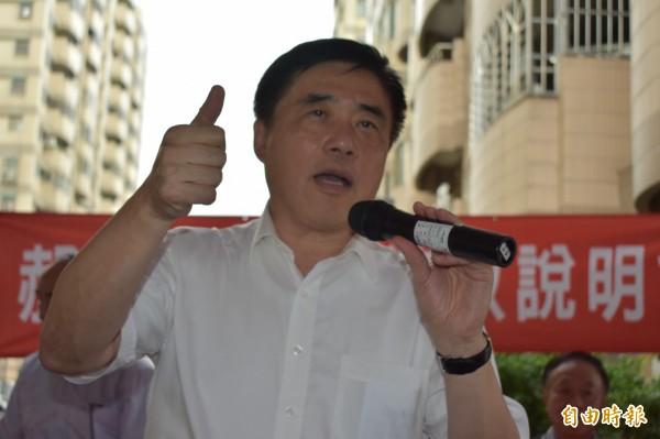 郝龍斌強調,如果2020年郭台銘能打敗蔡英文,國民黨就讓郭台銘參選。(記者張瑞楨攝)
