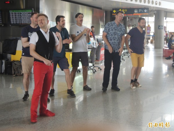 「A Cappella春唱」瘋台灣巡迴音樂會今年邀請到丹麥人聲樂團Basix來台。(記者廖雪茹攝)