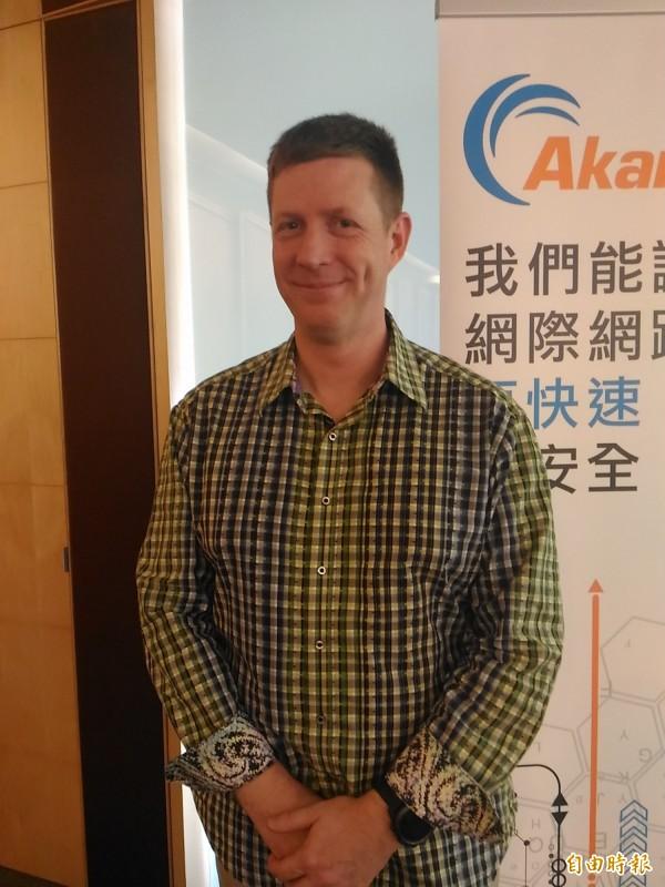 Akamai日本暨亞太地區安全部門技術長 Michael Smith。(記者李靚慧攝)