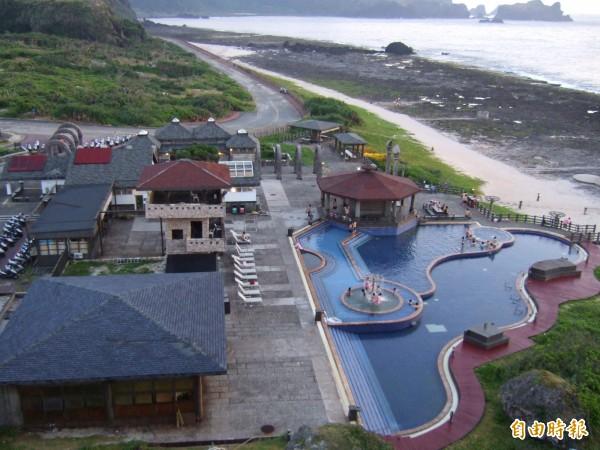台電有意在綠島朝日溫泉附近設置地熱發電廠。(記者王秀亭攝)