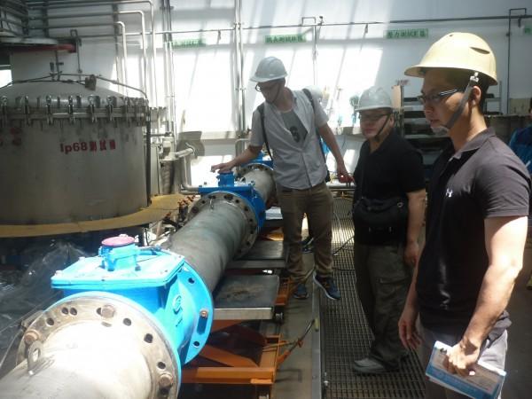 水公司鎖定工業區大廠,推智慧型電子水表。(記者陳文嬋翻攝)