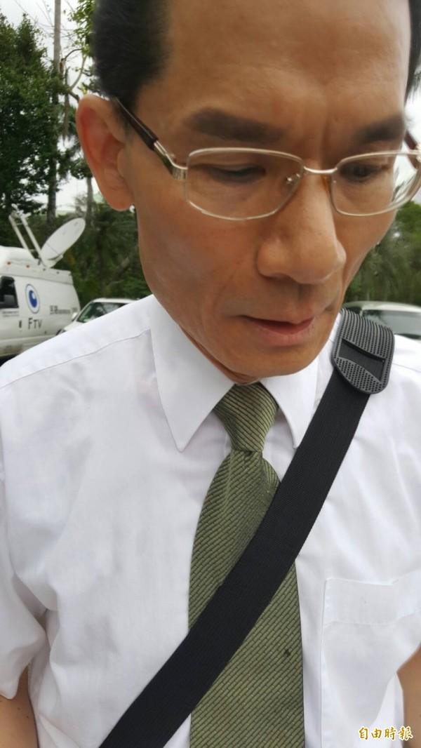 護家盟、台灣宗教團體愛護家庭大聯盟秘書長張守一。(記者溫于德攝)