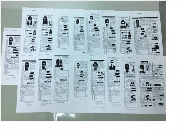 越南人蛇集團以虛偽身分資料辦理中華民國護照。(記者廖淑玲翻攝)