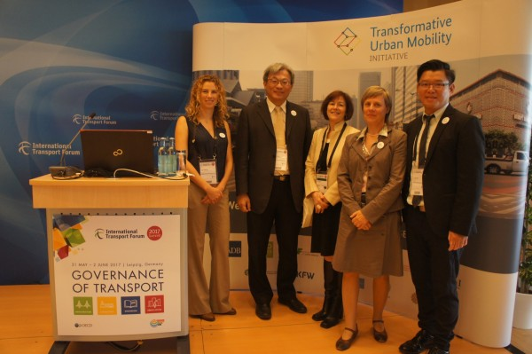高雄市首度受邀出席國際運輸論壇2017年高峰會。(高市交通局提供)