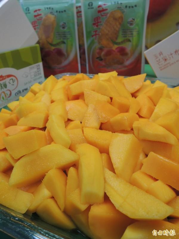 台南芒果好滋味。(記者洪瑞琴攝)