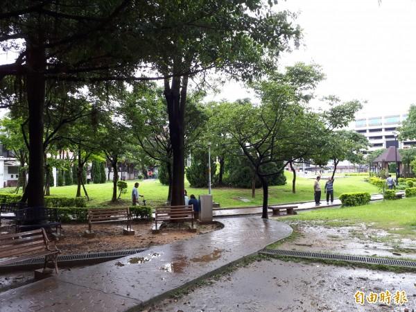 推動參與式預算的文昌公園一景。(記者謝武雄攝)