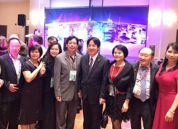 台南市長賴清德訪美,受邀至北美洲台灣商會聯合總會發表演講,受至台商熱烈歡迎。(南市府提供)