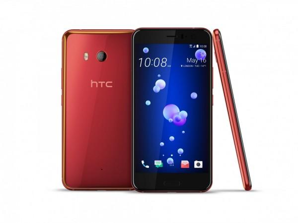 HTC U11豔陽紅。(宏達電提供)