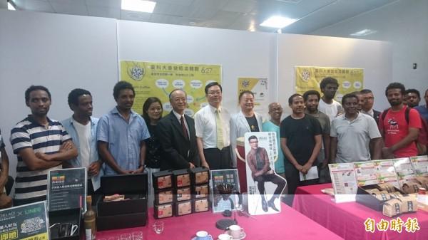 台灣科技大學幫校內的衣索比亞外籍生牽線,與台灣咖啡業者進行小農契作,把高品質的咖啡豆引進台灣,也能帶動當地經濟發展。(記者吳柏軒攝)