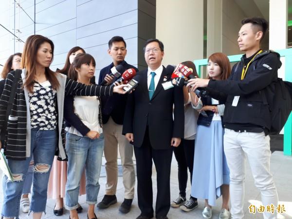 桃園市長鄭文燦認為HPE在智慧城市的經驗,是桃園最好的合作夥伴。(記者謝武雄攝)