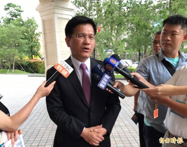 中國藉學術活動分化台灣,林佳龍認為此舉將適得其反,讓國人更團結。(記者黃鐘山攝)