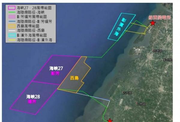 彰化海域約60公里長,沿海淺灘,海深較低,因而被相中開發風力發電。(圖施月英提供)