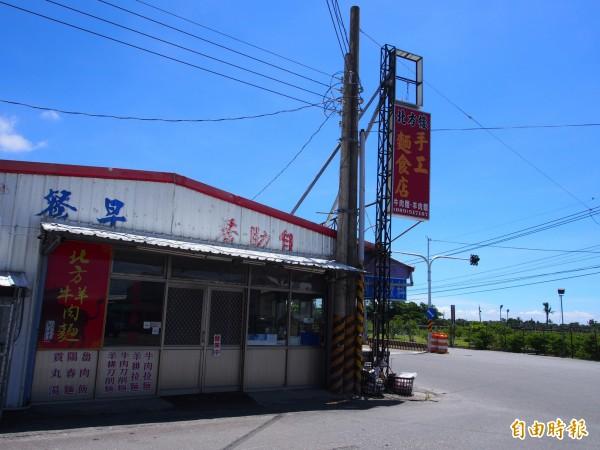 北方樓位在台九線上一間不起眼的小店面。(記者王秀亭攝)