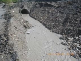宜興預拌混凝土廠偷排廢水超標,遭罰138萬元。(宜蘭縣政府環保局提供)