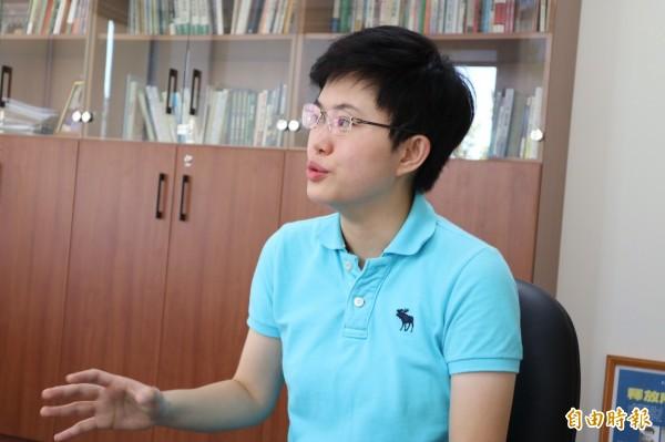 陳俞融表示,未來擔任CALD青年部秘書長,將會在政黨外交、新南向政策中奉獻自己國際事務的專才。(記者蘇芳禾攝)