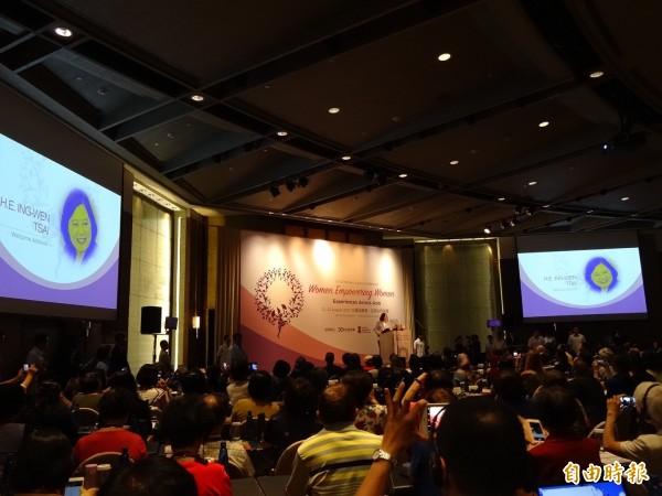 亞洲自由民主聯盟今天起在台灣連2日舉辦女性高峰會。(記者蘇芳禾攝)